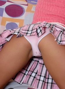 Aaliyah Love Is A Bad Little School Girl As She Strips Out Of Her Uniform And Fingers Her Tight Pink Pussy - Picture 2