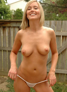Blonde Beauty Alicia Is In The Backyard Showing Off Her Perfect Wet Tits For All To See - Picture 6