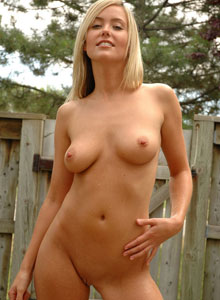 Blonde Beauty Alicia Is In The Backyard Showing Off Her Perfect Wet Tits For All To See - Picture 11