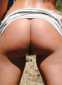 Tanned And Toned Spunky Angel Bri Exposes Her Perky Tits And Tight Round Ass - Picture 11