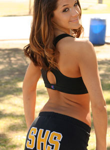 Brittanys Out In The Park Working Out - Picture 10