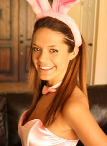 Brittany In A Sexy Lil Bunny Costume - Picture 3