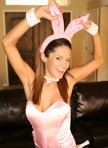 Brittany In A Sexy Lil Bunny Costume - Picture 4