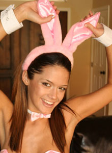 Brittany In A Sexy Lil Bunny Costume - Picture 5