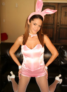 Brittany In A Sexy Lil Bunny Costume - Picture 6