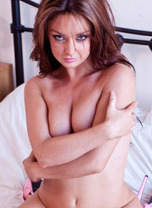 Spunky Angel Carmen Sanchez Shows Off Her Cute Little Bra And Panties And Then Strips Down To Nothing In Bed - Picture 11