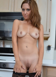 Chrissy Marie Strips Out Of Her Fishnet Stockings In The Kitchen - Picture 8