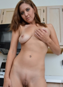 Chrissy Marie Strips Out Of Her Fishnet Stockings In The Kitchen - Picture 10