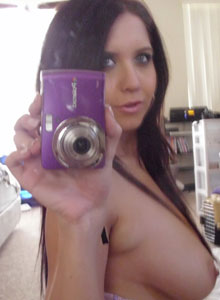 Chrissy Marie Takes Pictures Of Her Big Tits In The Mirror - Picture 11