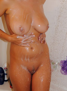 Watch As A Busty Teen Takes A Shower - Picture 4