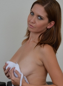 Chrissy Marie Teases As She Strips Out Of Her Sexy White Lace Bra And Panties - Picture 5
