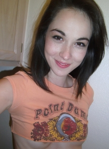 Cute Petite Teen Emily Takes Selfshot Pictures Of Her Perky Little Tits - Picture 4