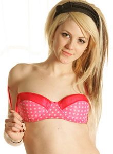 Super Cute Haley Loves To Tease As She Strips Out Of Her Little Dot Covered Outfit - Picture 5
