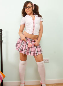 Naughty School Girl Kacie James Shows Off Her Tight Little Ass Under Her Short Skirt - Picture 2
