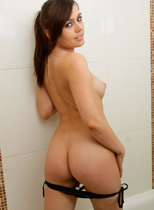 Cute Kacie James Gets Naked In The Shower And Rubs Soap All Over Her Perky Teenage Breasts - Picture 5