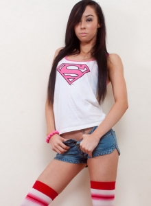 Tight Super Girl Teen Lexi Strips Out Of Her Cute Bra And Panties - Picture 1