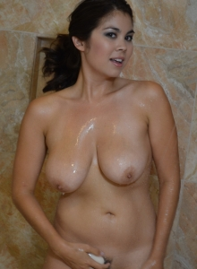 Busty Spunky Angel Babe Mai Ly Is In The Shower Showing Off Her Big Juicy Natural Breasts - Picture 5