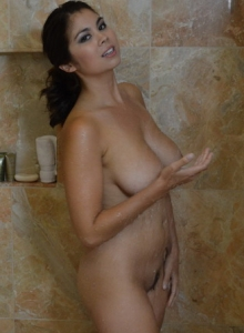 Busty Spunky Angel Babe Mai Ly Is In The Shower Showing Off Her Big Juicy Natural Breasts - Picture 8