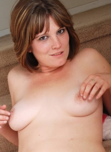 Curvy Tattooed Spunky Angel Misty Teases As She Strips Naked On The Stairs - Picture 11