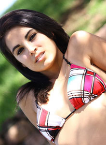 Cute Teen In A Bikini Gets Topless In The Public Park - Picture 10