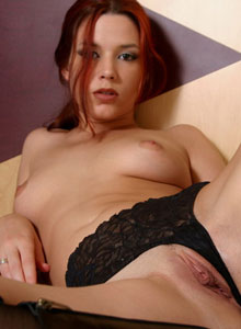 Horny Ravon Pulls Her Black Lace Panties Aside To Play With Her Tight Perfect Pussy - Picture 8