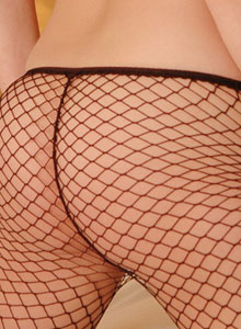 Serenas Perky Tits Are Visable Through Her Black Mesh Outfit - Picture 10