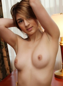 Perky Teen Zoey Violet Strips Down To Her Blue Panties Because She Loves To Tease - Picture 4